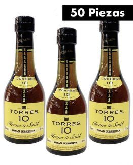 50 Botellas Torres 10 50ml-a